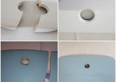 Επισκευή σπασμένο καπάκι τουαλέτας