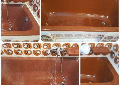 Επισμάλτωση έγχρωμης μπανιέρας Σεπόλια