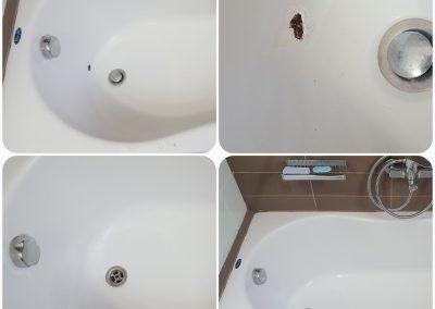 Σπάσιμο μπανιέρας σε ακρυλική μπανιέρα