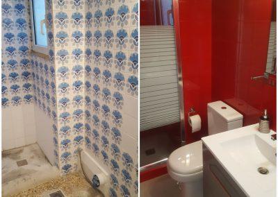 Νέο μοντέρνο μπάνιο μόλις σε 2 ημέρες. Ολική ανανέωση μπάνιου που συμπεριλαμβάνει απομάκρυνση παλαιών ειδών υγιεινής και αντικατάστασή τους με νέα! Ξήλωμα μπανιέρας με νέα διαμόρφωση χτιστής ντουζιέρας, επισμάλτωση πλακιδίων με νέα σχέδια και τοποθέτηση με φυσική πέτρα δαπέδου. Περιοχή Καλλιθέα