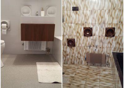 Ανακαίνιση μπάνιου και αναδιαμόρφωση εκ νέου. Ολική ανακαίνιση με επισμαλτωση πλακιδίων μπάνιου και επίστρωση χαλαζιακής πέτρας. Αποξήλωση ειδών υγιεινής με αντικατάσταση με καινούρια. Αποκολλήσεις από φουσκωμένα ή σπασμένα πλακάκια διορθώνονται . Όλα τα μερεμέτια συμπεριλαμβάνονται στην τιμή. Περιοχή Χαιδάρι. Ζητήστε προσφορά