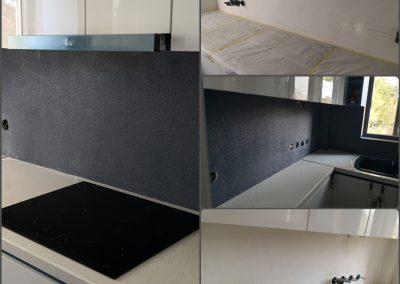 Επικάλυψη σε τοίχο κουζίνας με πέτρα χαλαζιακής επένδυσης. Απεριόριστες επιλογές αποχρώσεων